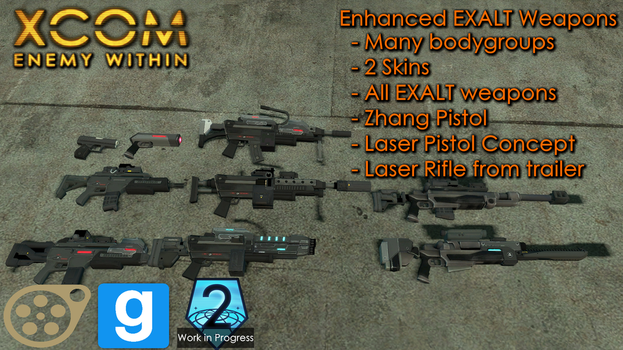 [DL SFM/GMOD] Enhanced EXALT Weapons by falloutshararam
