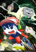 Grazing Grasstown - Cave Story by GoshaDole