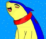 Typhlosion in the snow by ResidentEvilhunters