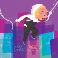 Mary Blair inspired Spider-Gwen (no mask) by whoisrico