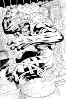 SabreTooth inked by Travinapple