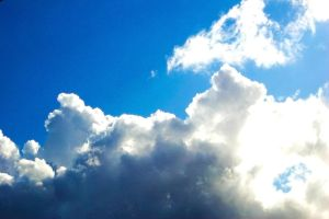 White Clouds, Blue Sky and Sun by debugger20