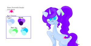 OPEN POINT ADOPTABLE: Periwinkle Droplet by CloudsofCrystal