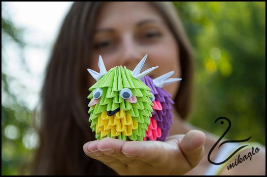 mikaglo Baby Dragons Origami 3d by Majka16g