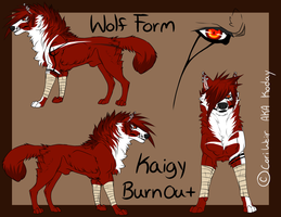 Kaigy Burnout's Wolf Form by xKoday