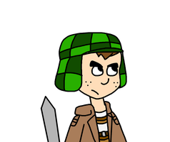 El Chavo as Attack on Titan character by ElMarcosLuckydel96