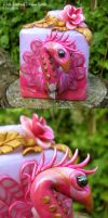 Pink Peacock Perfume Bottle by spaceship505