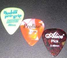Guitar Picks by Kerochris