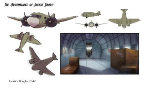 The Adeventures of Jackie Sharp - Jackie's Plane by NickSwift