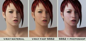 testing vray fast sss2 by SaphireNishi