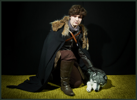 Game of Thrones : Robb Stark and Greywind by labrathor