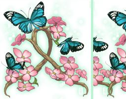 irezumi design: butterfly 006-001 by fydbac