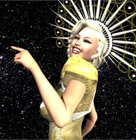 Space Marilyn by Luckytrefle