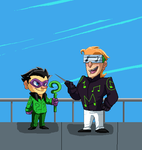 Pixel riddler and music meister by pink-ninja