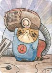 Super Cat 02 ACEO ATC by Siriliya
