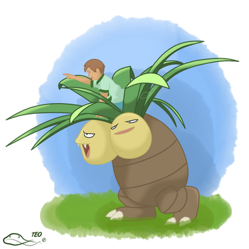 Go Exeggutor! by The-Emerald-Otter