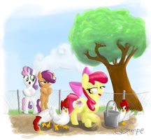 Applebloom chicken herder by simpe94