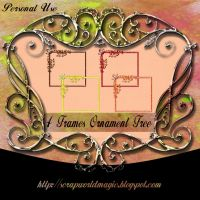 4 Frames Ornament png Free by weezya