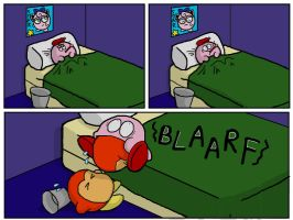 Kirby Sick by stef-o-chan