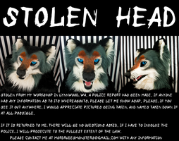 STOLEN FURSUIT HEAD by fenrirschild