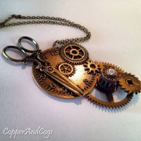 'Cut above the rest' Steampunk Pendant by CopperAndCogs