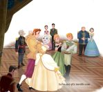 Hans and Elsa at the Royal Ball by inspired-flower