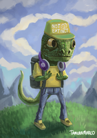 DinoGuy standing casually 1/100 by Markdotea