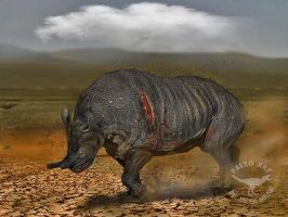 Brontotherium -Old bull by A2812