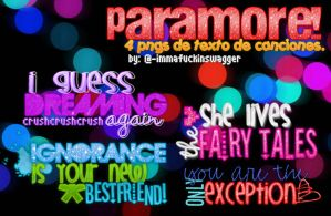 Paramore Text PNGs. by immafuckinswagger