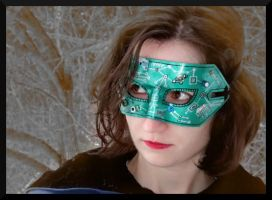 Green Circuit Board Mask Modeled by Jedi-With-Wings