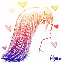 Manga girl side profile sketch by charlottegreen