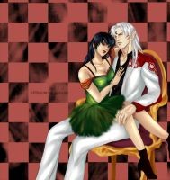 Sesshomaru and Kagome by st00pz