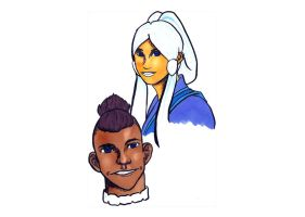 Sokka-Yue Secret Santa by anaer-art