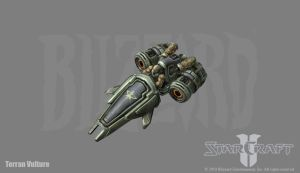 Starcraft 2: Terran Vulture by PhillGonzo