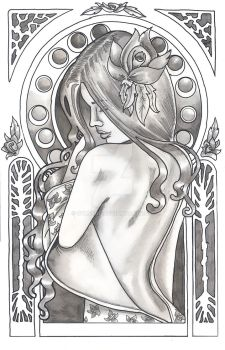 Nouveau Flower Maiden by Syreene