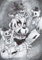 Freddy and his babies by Szpnia