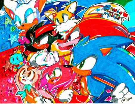 Clash of sonic heroes by chippuuuu