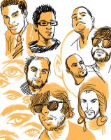 face sketches by 20handstall