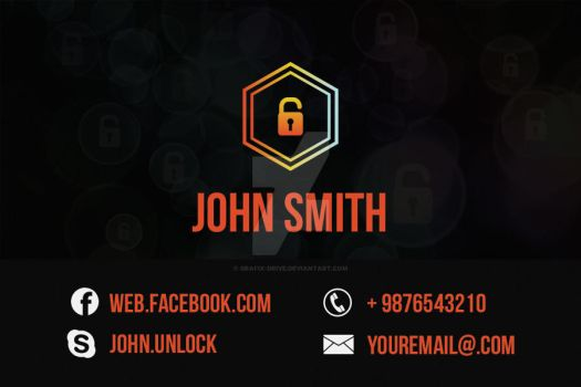Unlock-business-card by Grafix-Drive