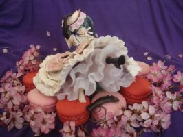 Bed of Macarons and Flowers by KittyAzura
