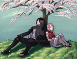 SasuSaku - Taking a break by Laine-O