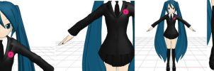 MMD Saihate Miku DL by molly-chan00