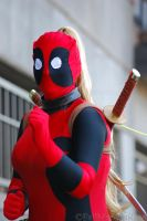 Lady Deadpool- To the Fight. by FallMoonlitRose