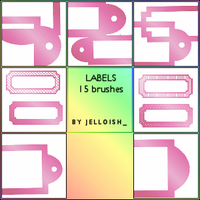 Brushes - Labels by greyskymorning
