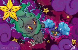 Cosmog and Marshadow by NearTARC