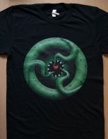 Cthulhu Heart Redbubble Tee by Rustyoldtown