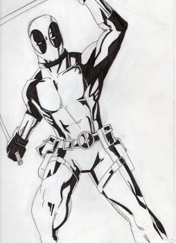 Deadpool - Inks, Stage 2 by DoYouHaveYourTowel42
