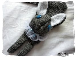 Grey Bunny Scarf by Cateaclysmic