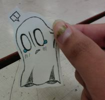 Napstablook Paper Child by Emptyproxy