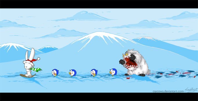 Death March of the Penguins by caycowa